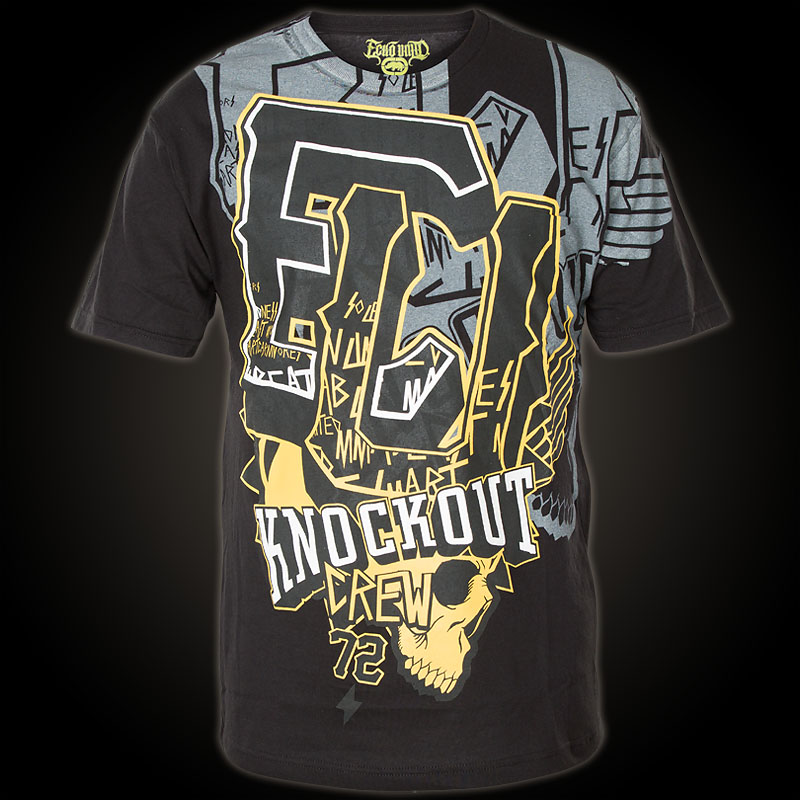 ecko unltd mma tshirt amped up shirt with a large
