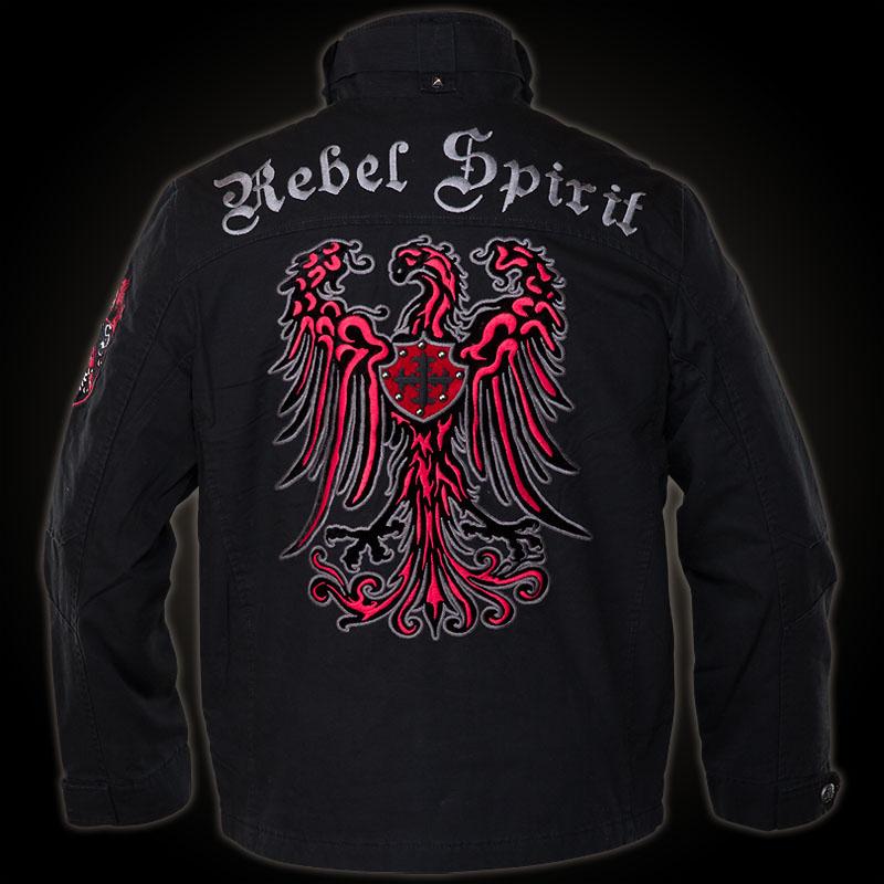 rebel spirit jacket mjk131650 in black jacket with many