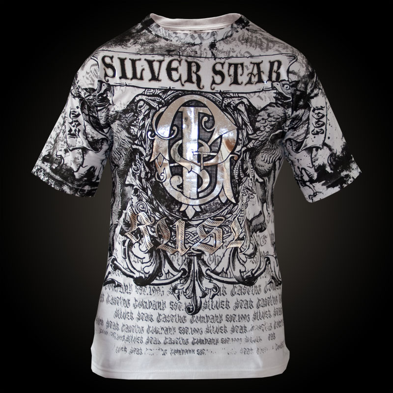 Silver star t shirt gsp premium gbp 31 95 affliction Premium t shirt brands
