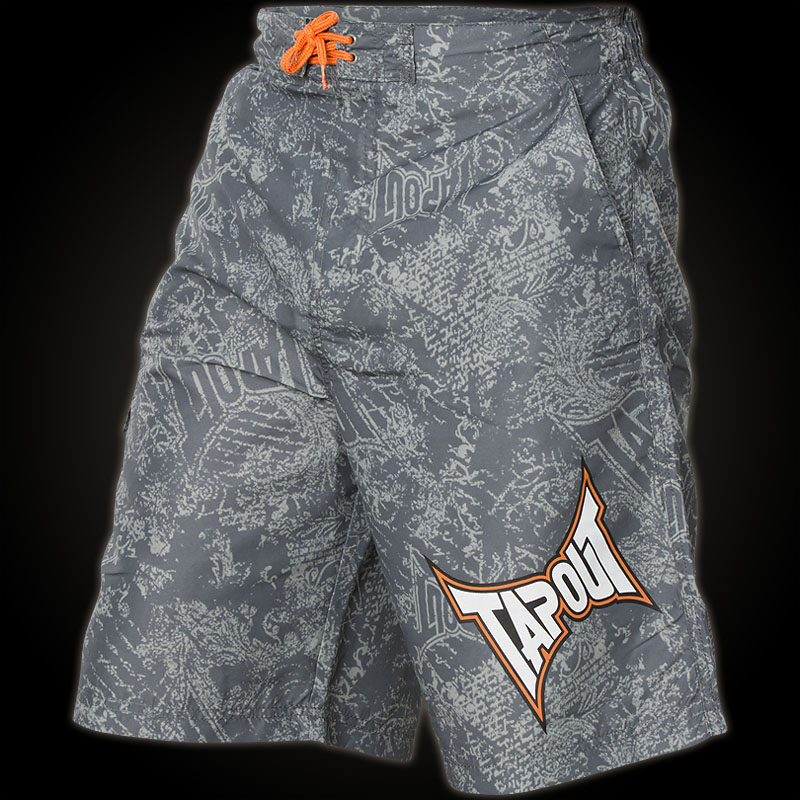 Tapout Shorts With Pockets Tapout Shorts Aop Grey