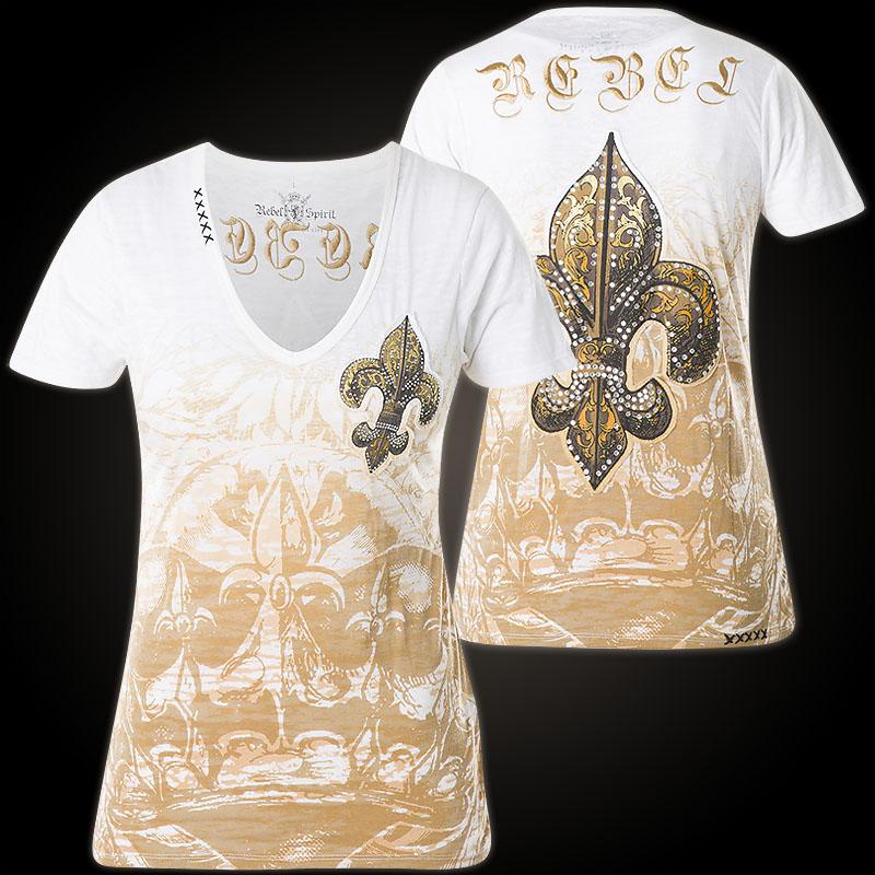 Rebel Spirit T-Shirt GSSV0242B with fleur de lis