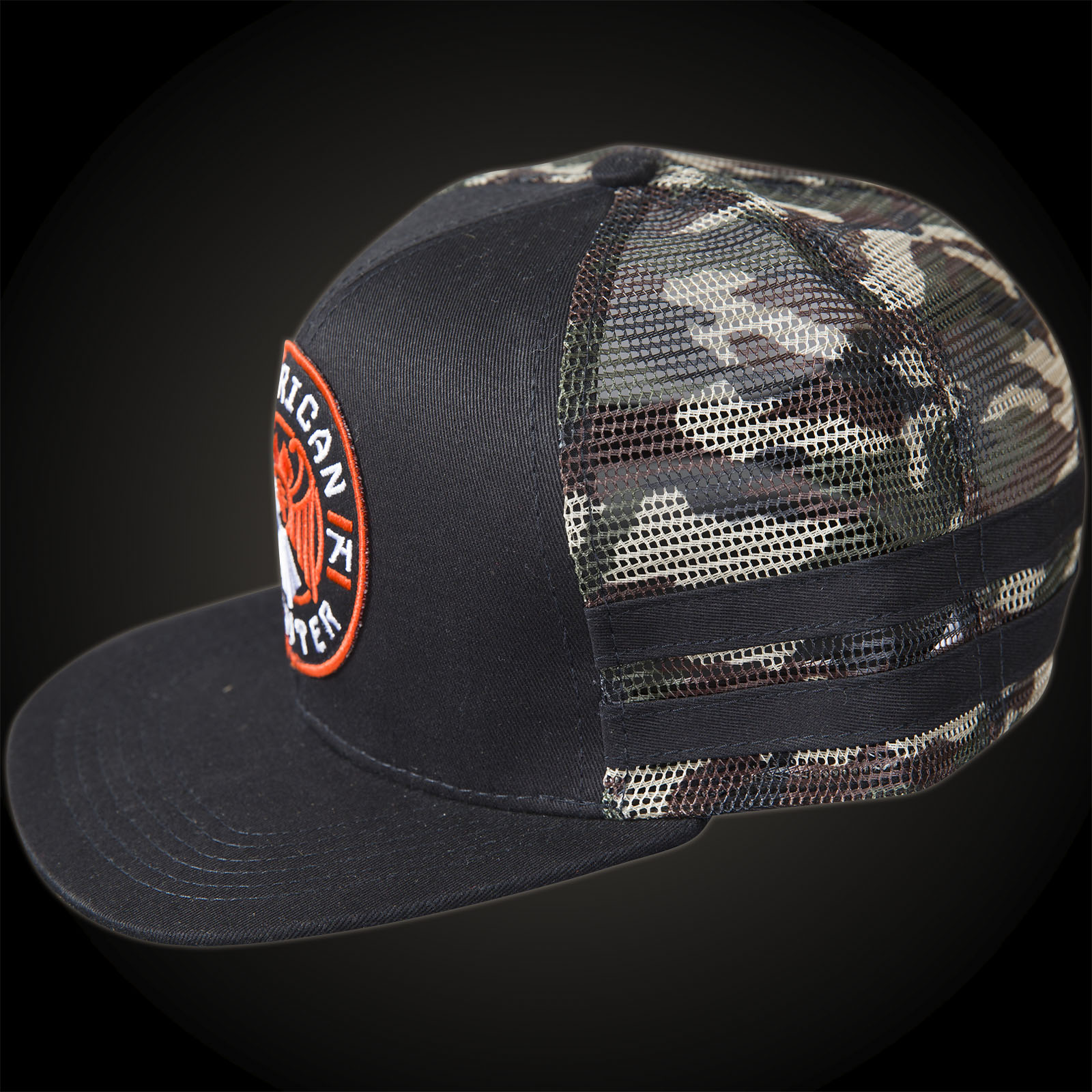 a4f8e5f2 ... American Fighter by Affliction Fisher Hat Black/Camouflage ...