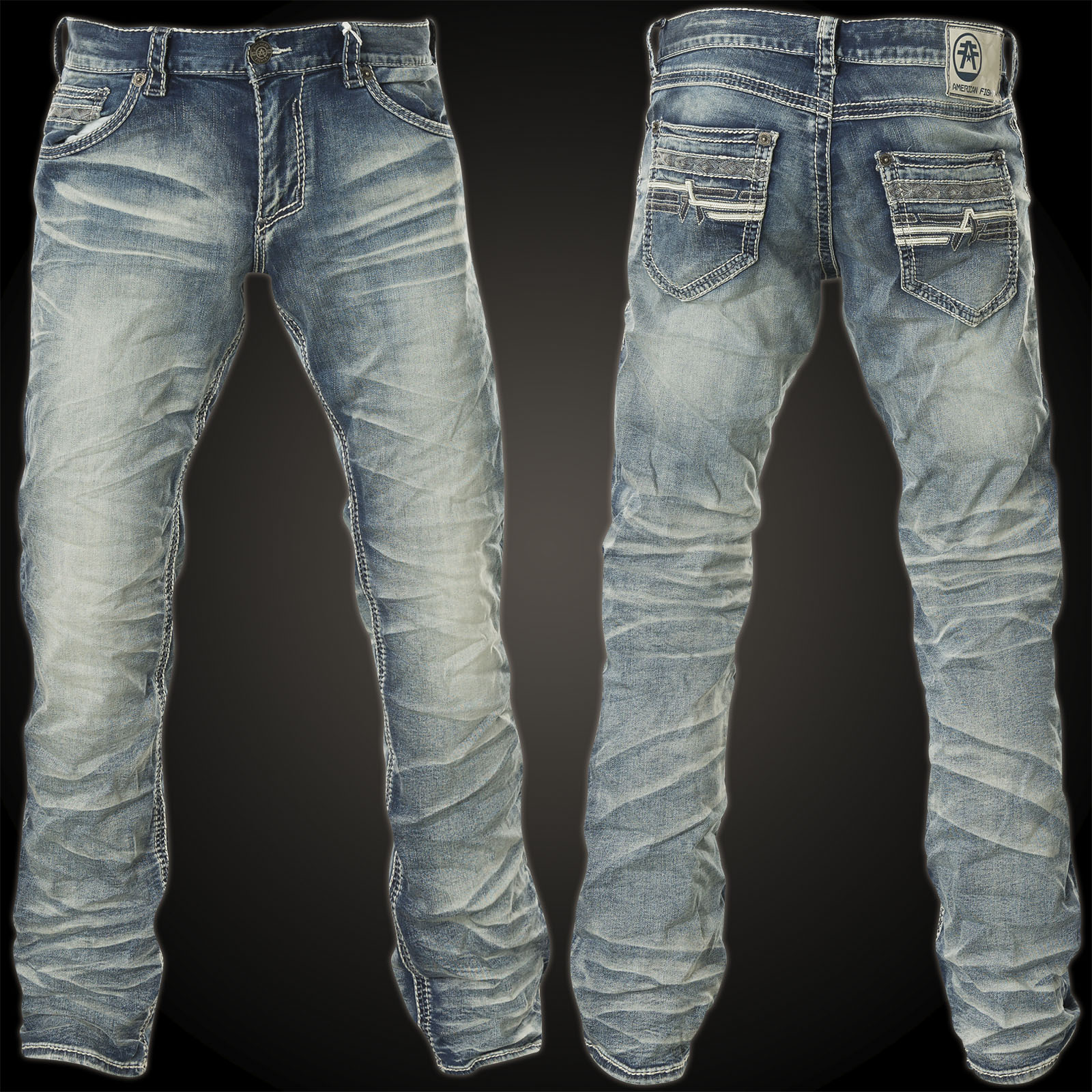 American Fighter Jeans Legend Doyle With Many Decorative Seams