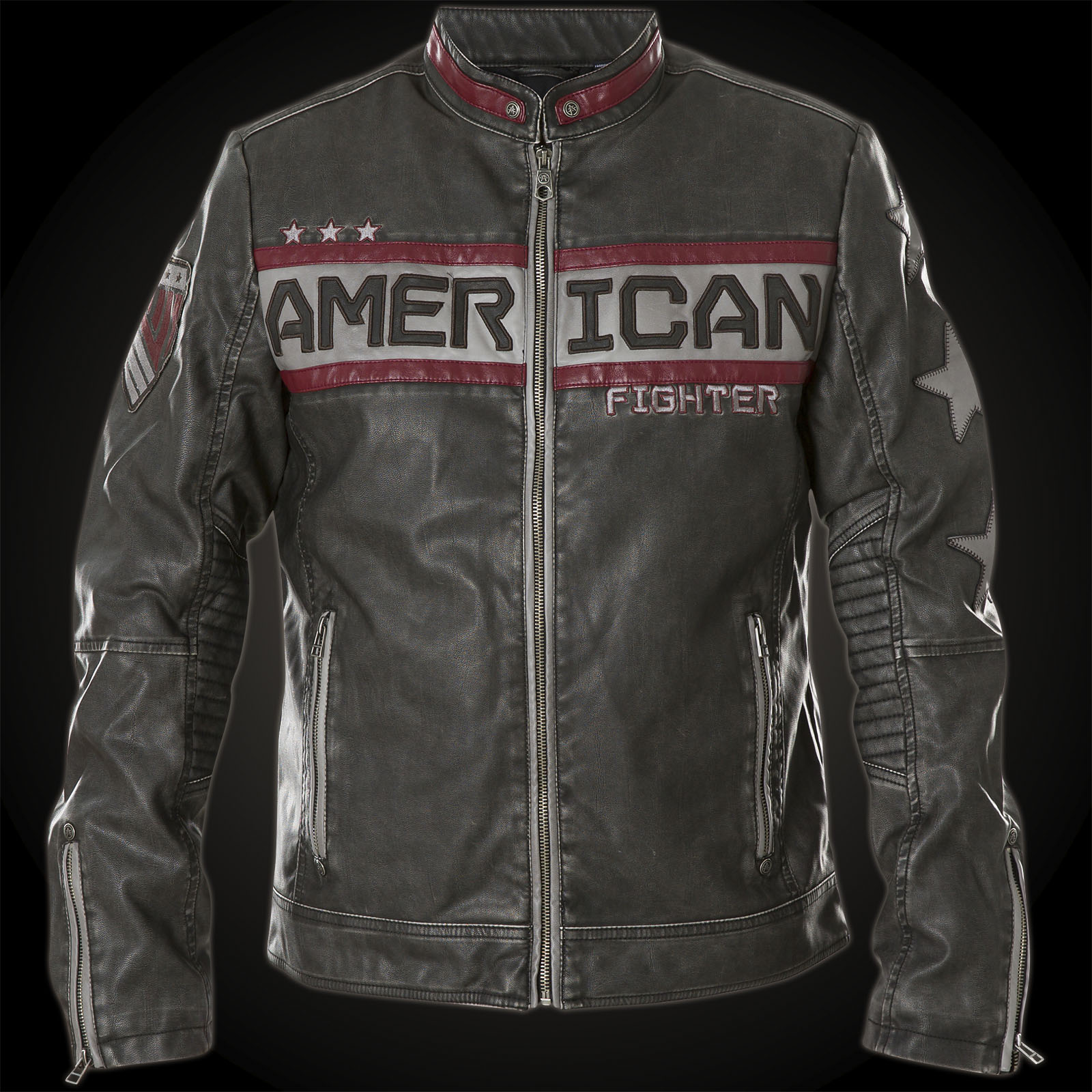 American Fighter By Affliction Biker Style Jacket Made Of