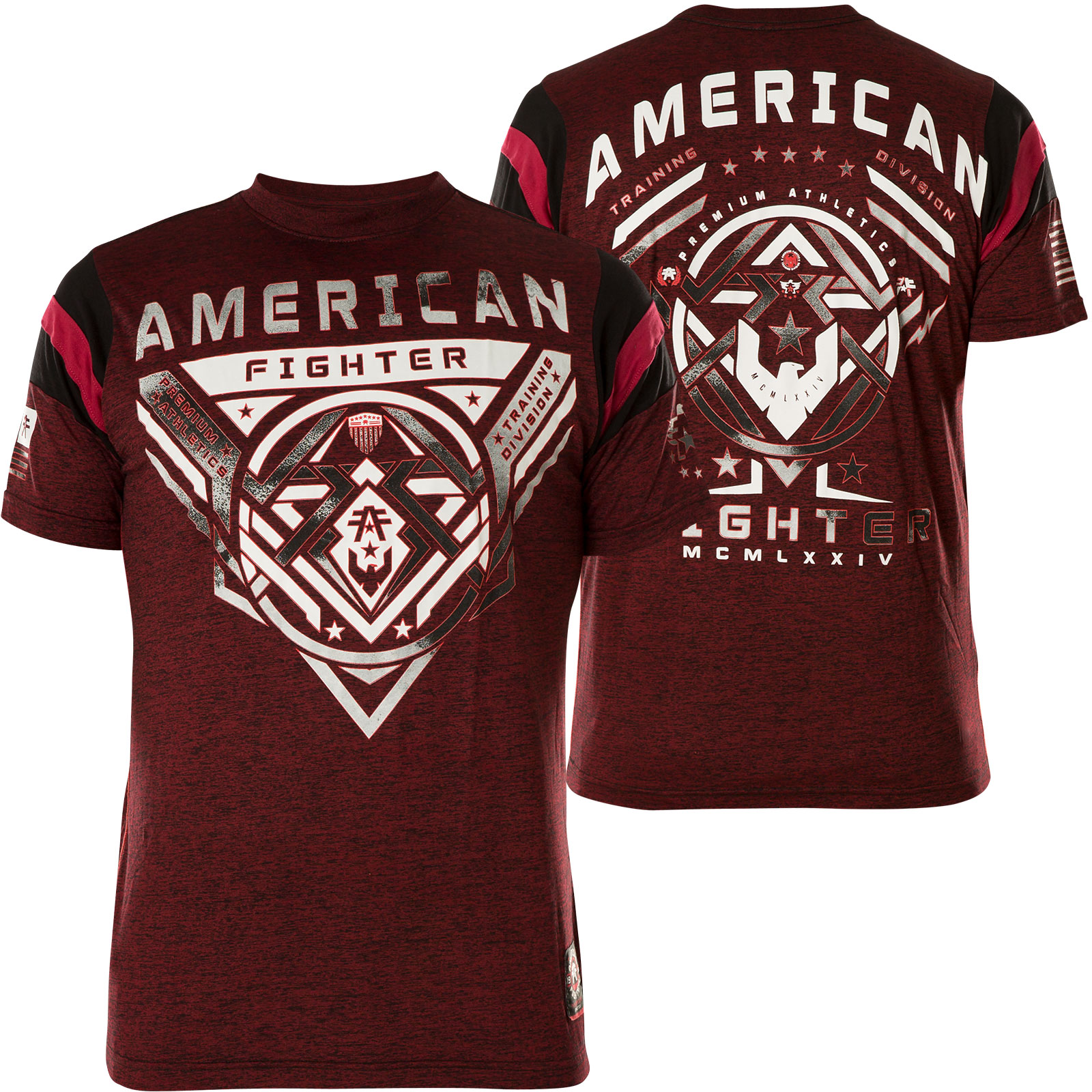 b243c673f American Fighter by Affliction T-Shirt with large print designs and ...