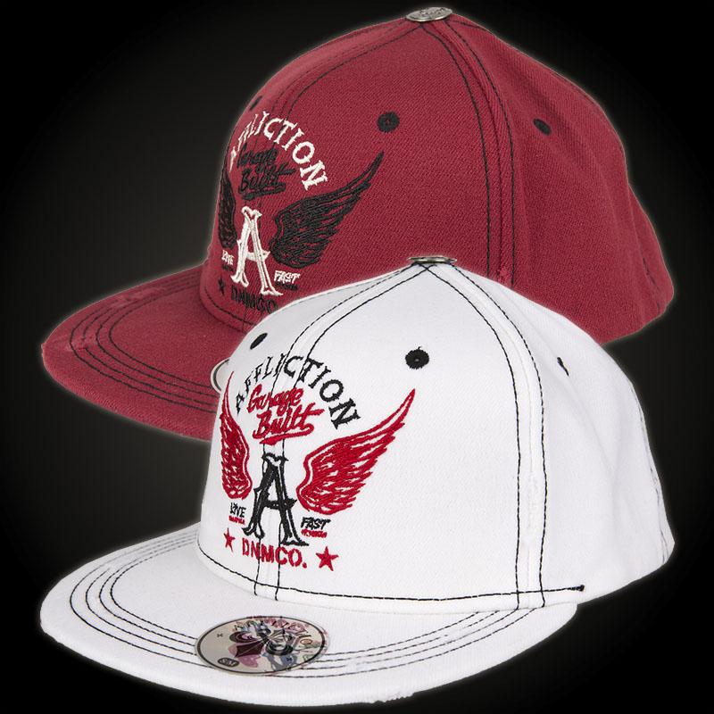 Affliction Garage Built Hat, White Embroidered Flexfit Cap