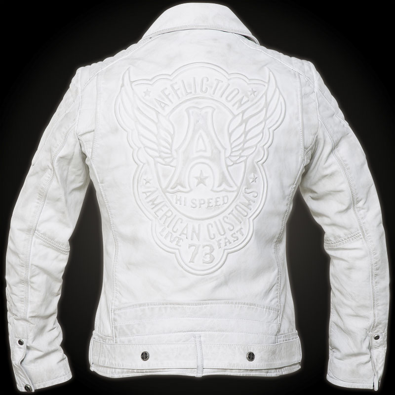 Affliction Bike Cutter Jacket Leather Jacket With Padded