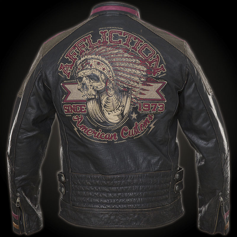 Affliction Built For Speed Parka Leather Jacket With