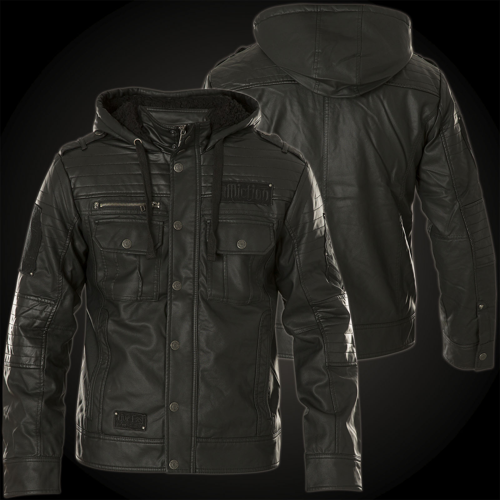 Affliction Jacket Reflection with logo patches