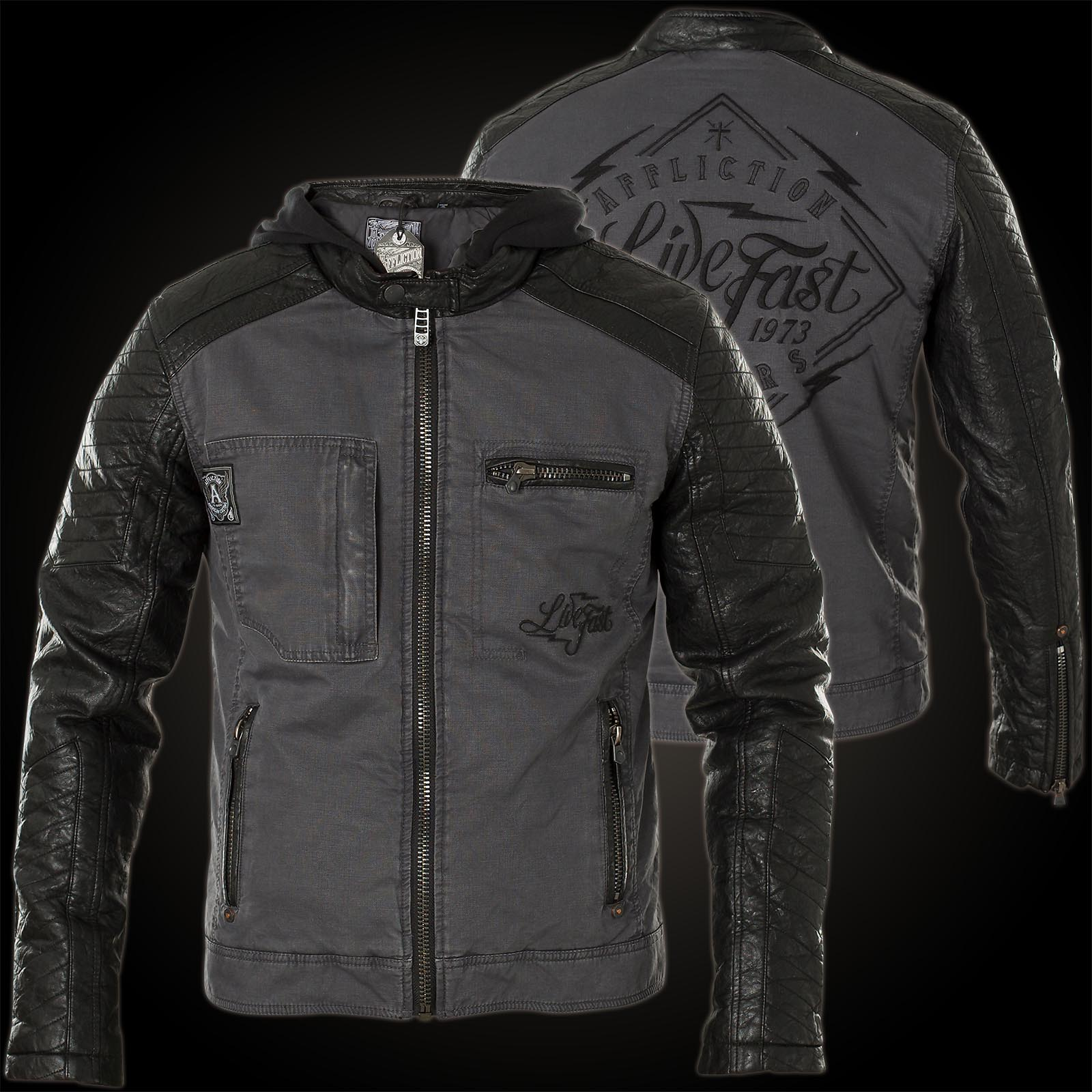 Affliction silent leather jacket