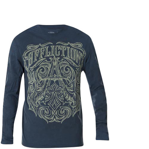 93cfa437808 Affliction Thermal Causeway with ornaments and Affliction lettering