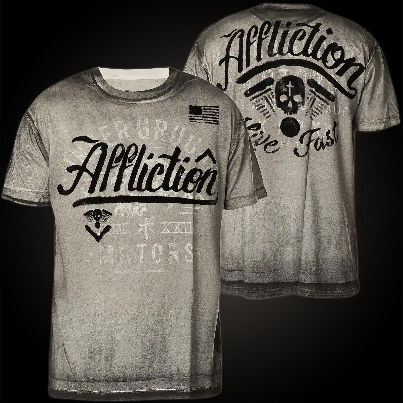 Affliction T Shirt Corpus Christi Ii Print Featuring A Skull