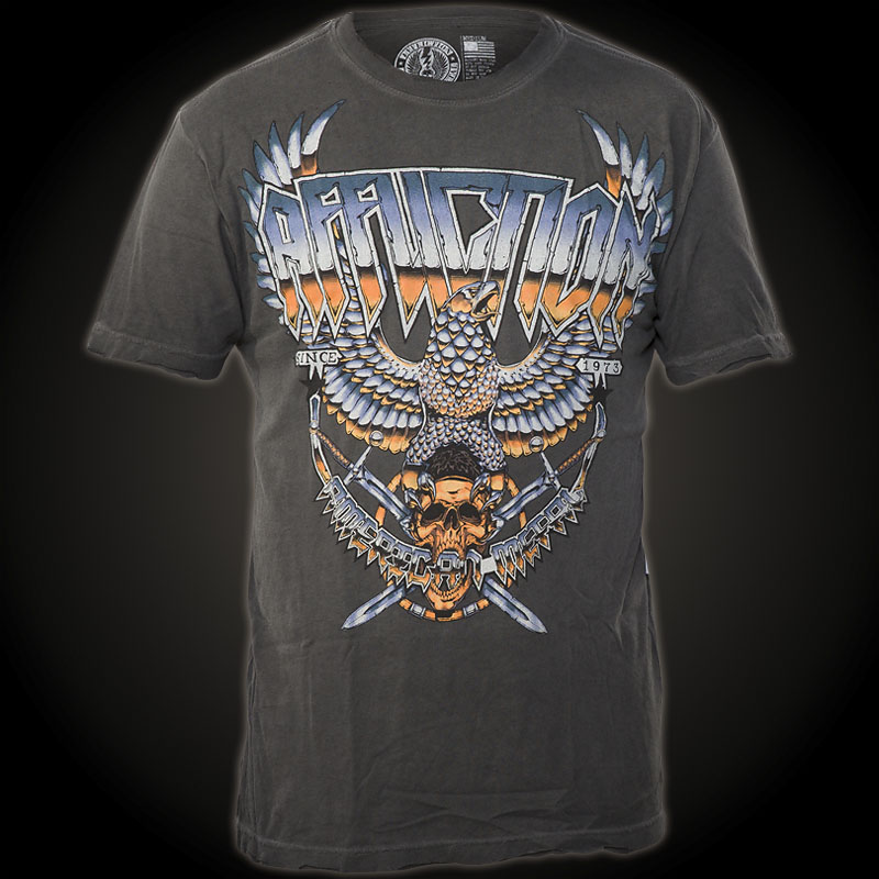 Affliction T-Shirt Metal Storm - Shirt with a large ...
