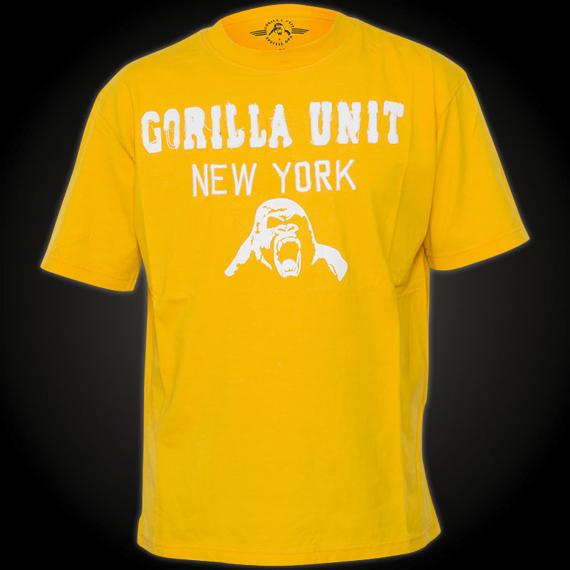 Gorilla unit t shirt new york with patches