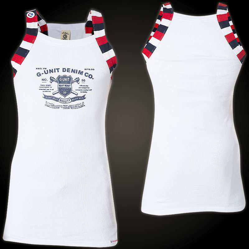 f753f13b6e328 G-Unit T-Shirt Tools Of The Trade Tank with a crest and lettering