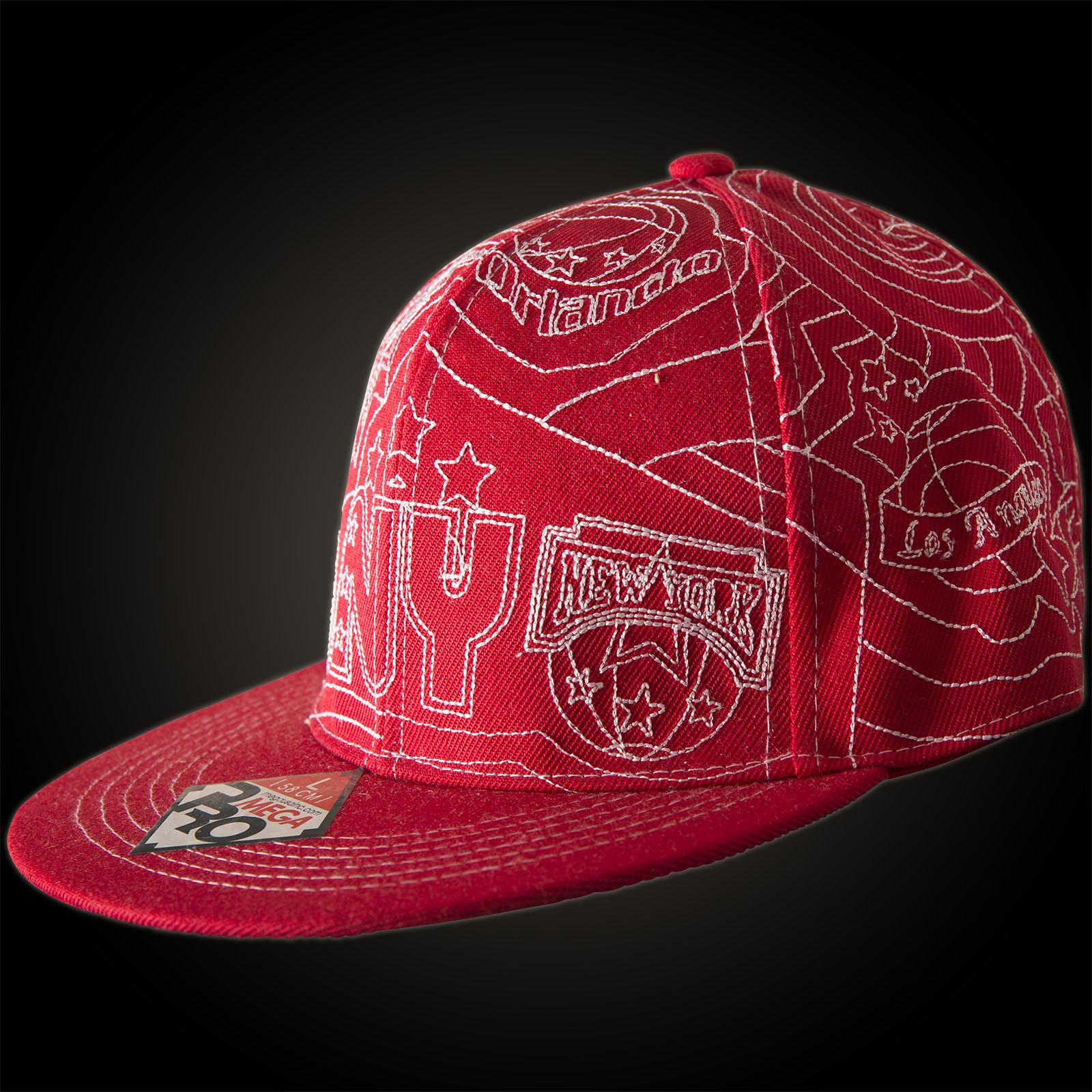 Mega USA New York Basketball Cap with an all over embroidery 9276a6bd3e1