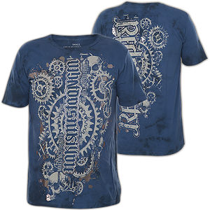 409813e51c37e Red Chapter T-Shirt with eye-catching print designs and silver foil details