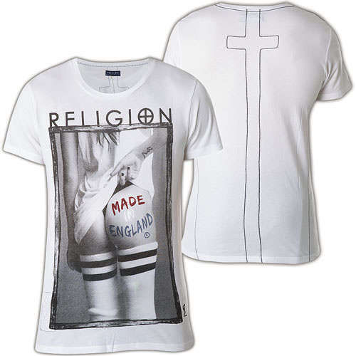 Religion T-Shirt Made In England B2116MEF15A White