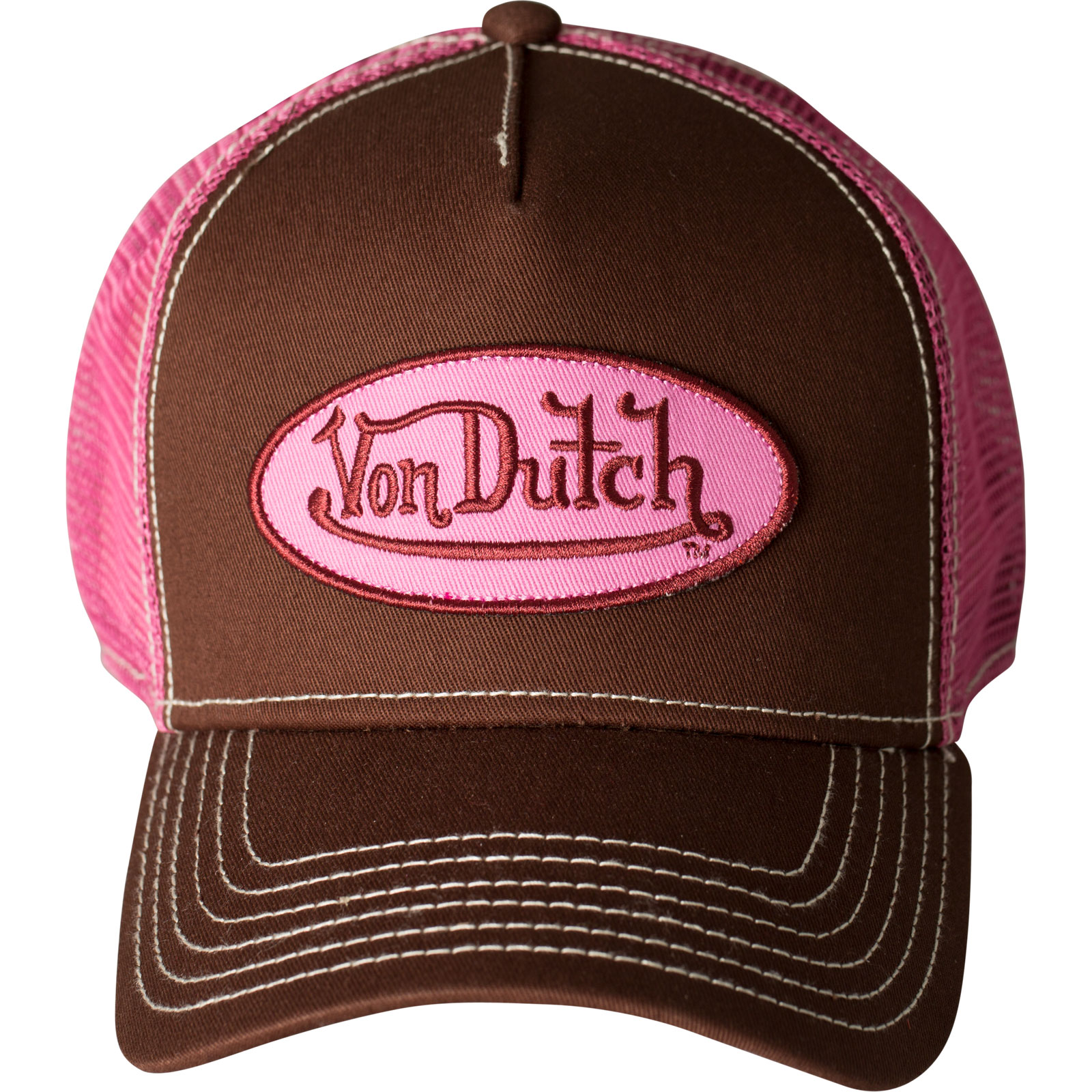 Von Dutch OG Trucker Cap with embroidered patch and midriff bcc5db20e66f