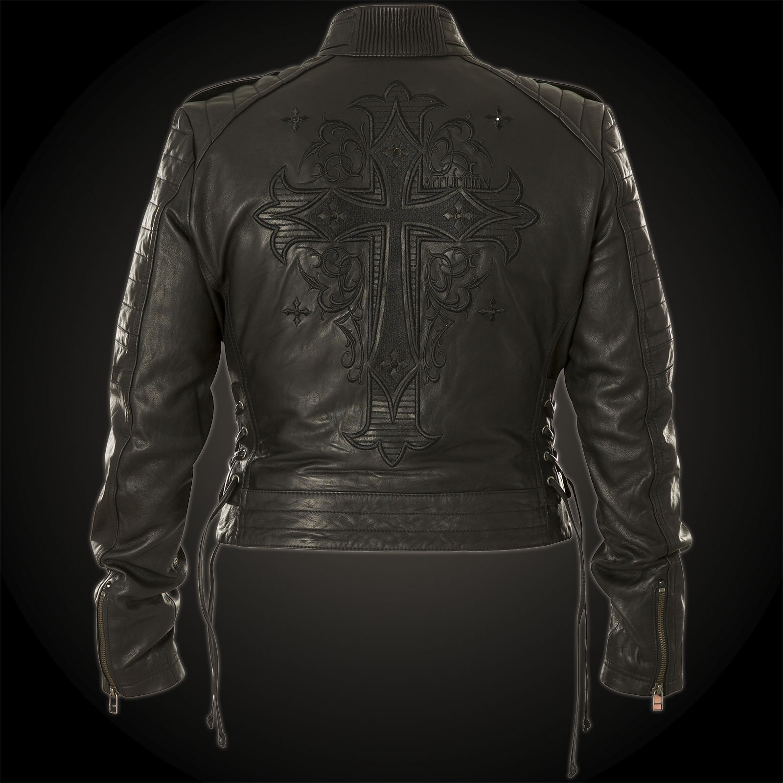 Blacktrail Jacket Affliction Black Woman Leather CBxoeWdr