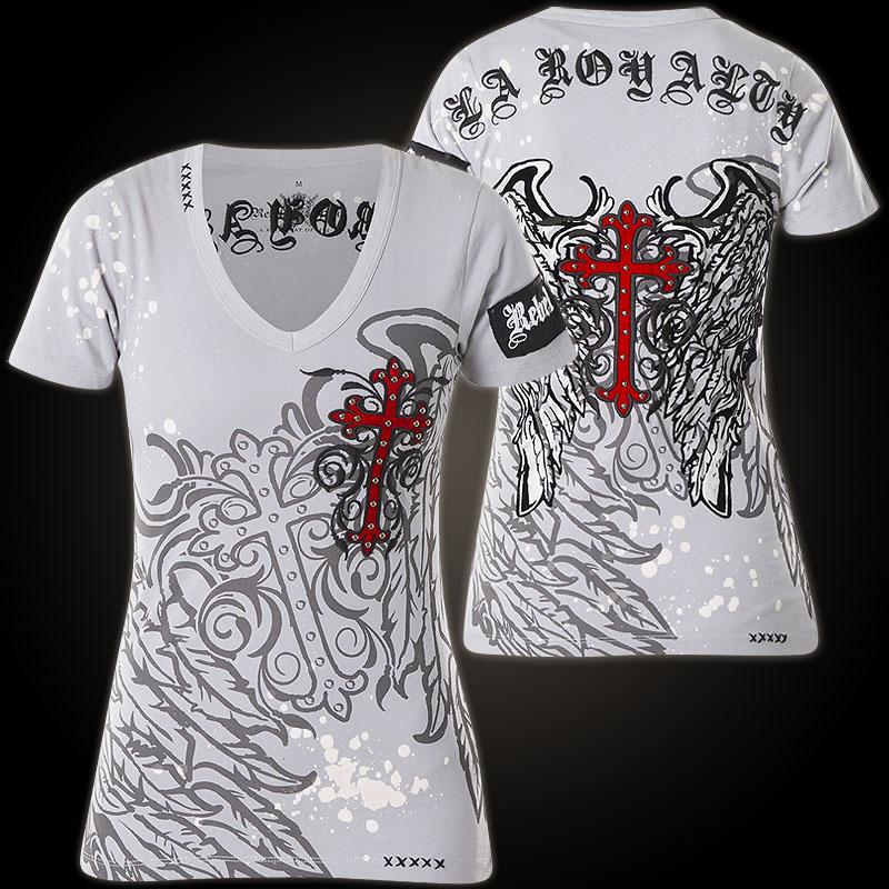 Rebel Spirit T-Shirt GSSV0178B with fleur de lis crosses