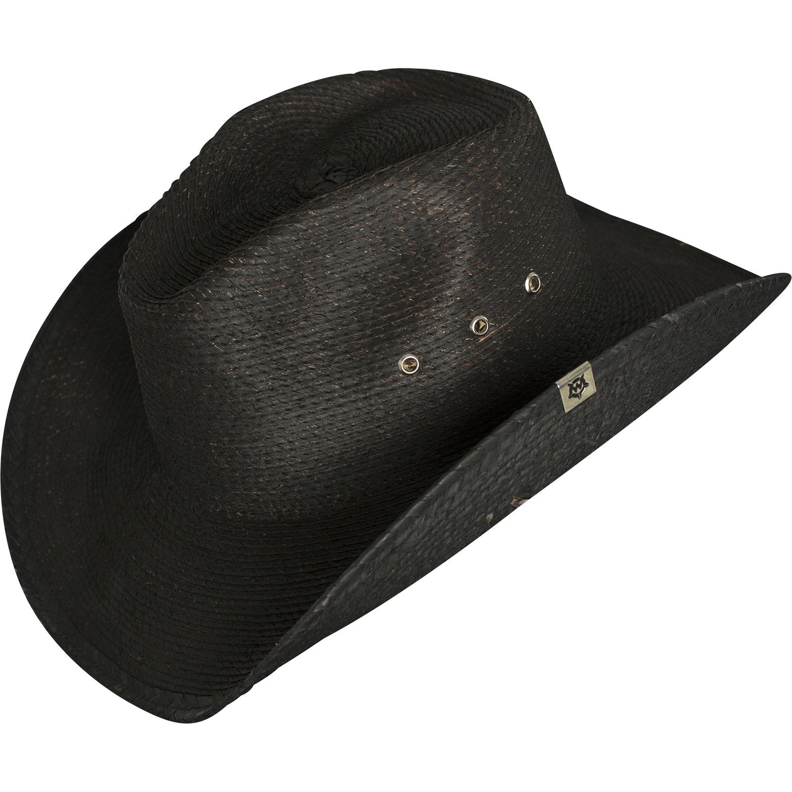 ... Wornstar Hat Essentials Hellrider Black Rocker Cowboy Hat Black e50ae69e5a1