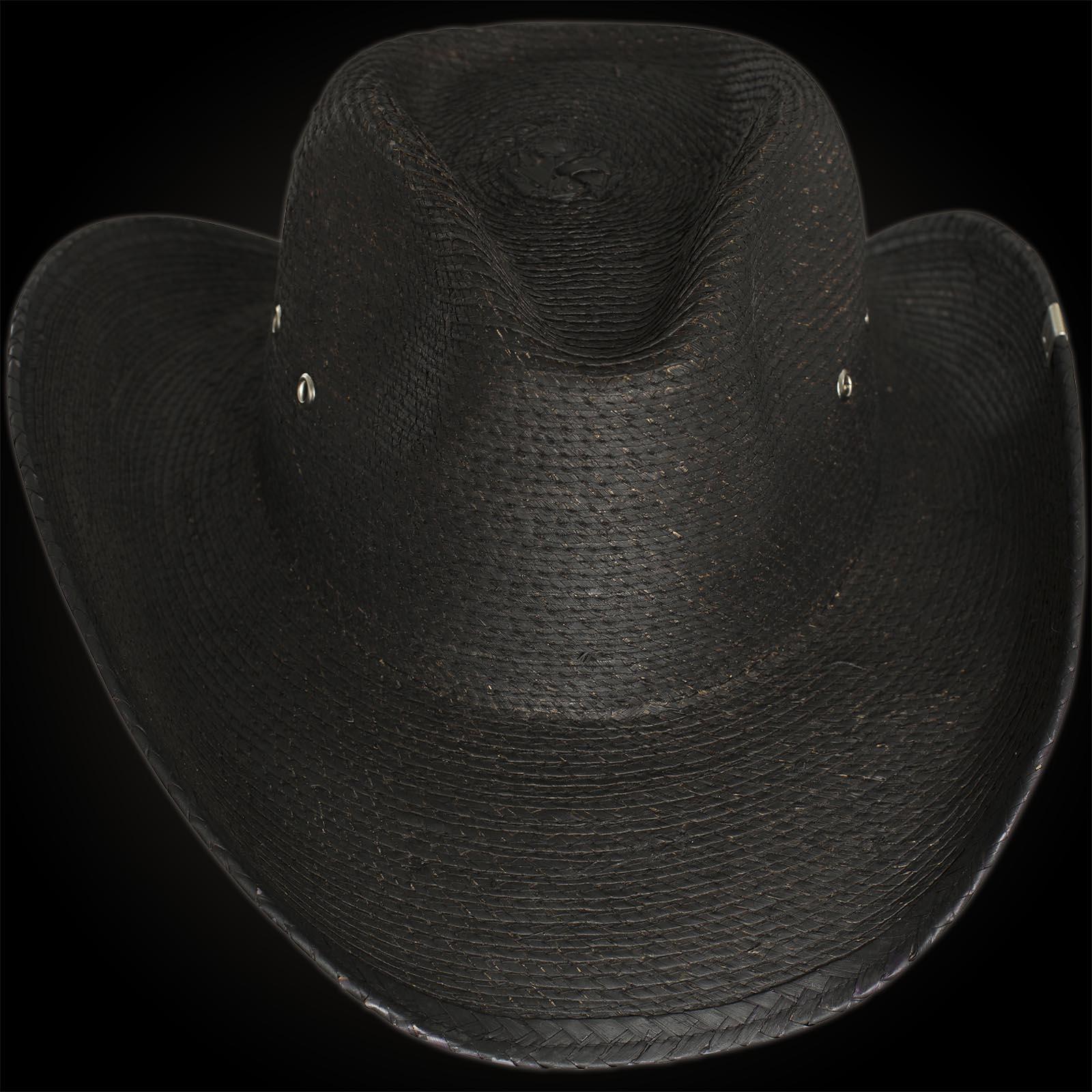 c5d031cc68d Wornstar Hat Essentials Hellrider Black Rocker Cowboy Hat Black ...