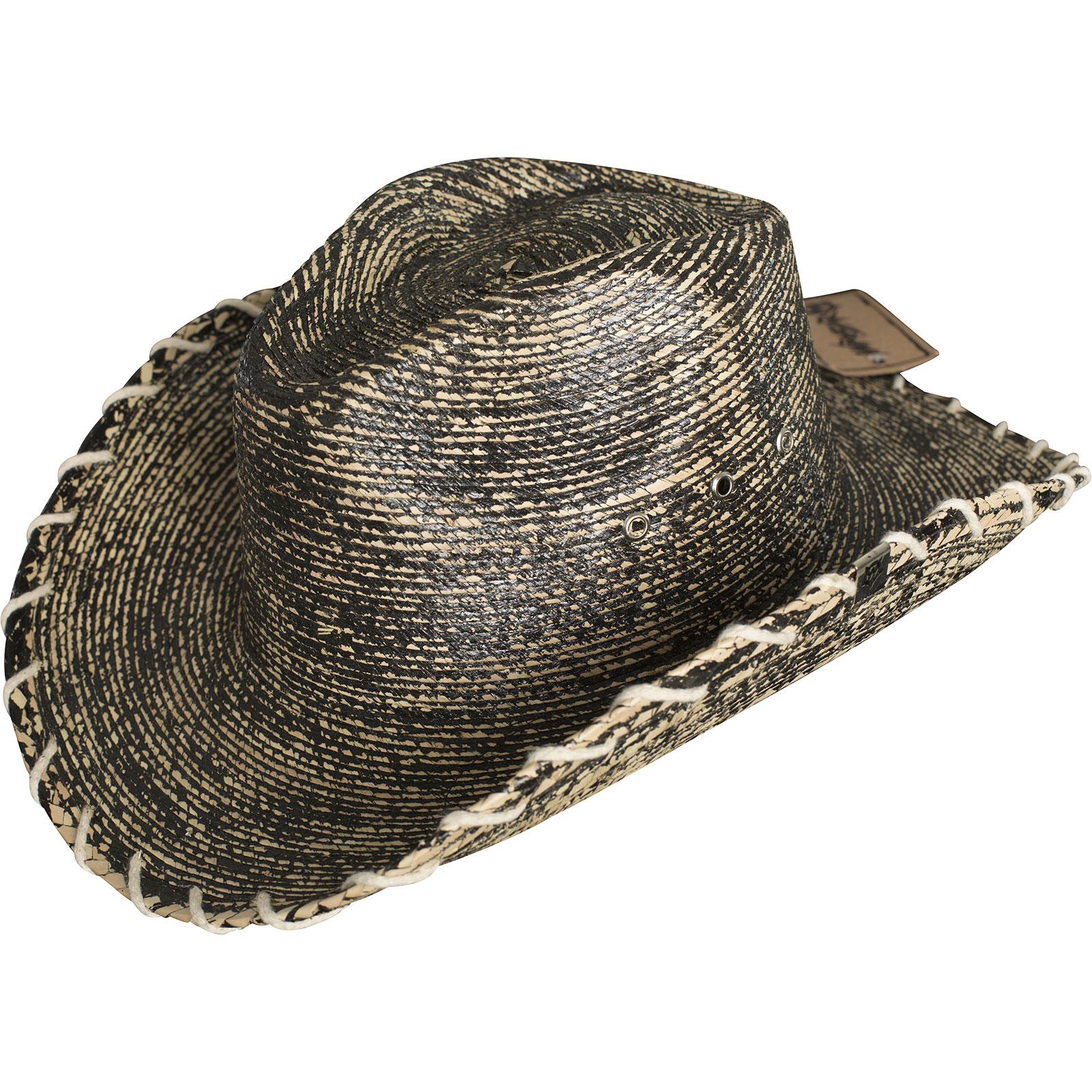 5166f6189c8 ... Wornstar Hat Essentials Hellrider HS Black   Natural Rocker Cowboy Hat  Beige Black