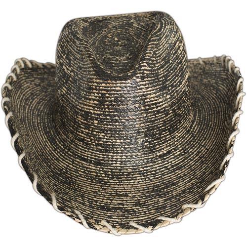 3ab7e691b7a Wornstar Hat Hellrider HS Black   Natural Rocker Cowboy Hat with a metal  logo