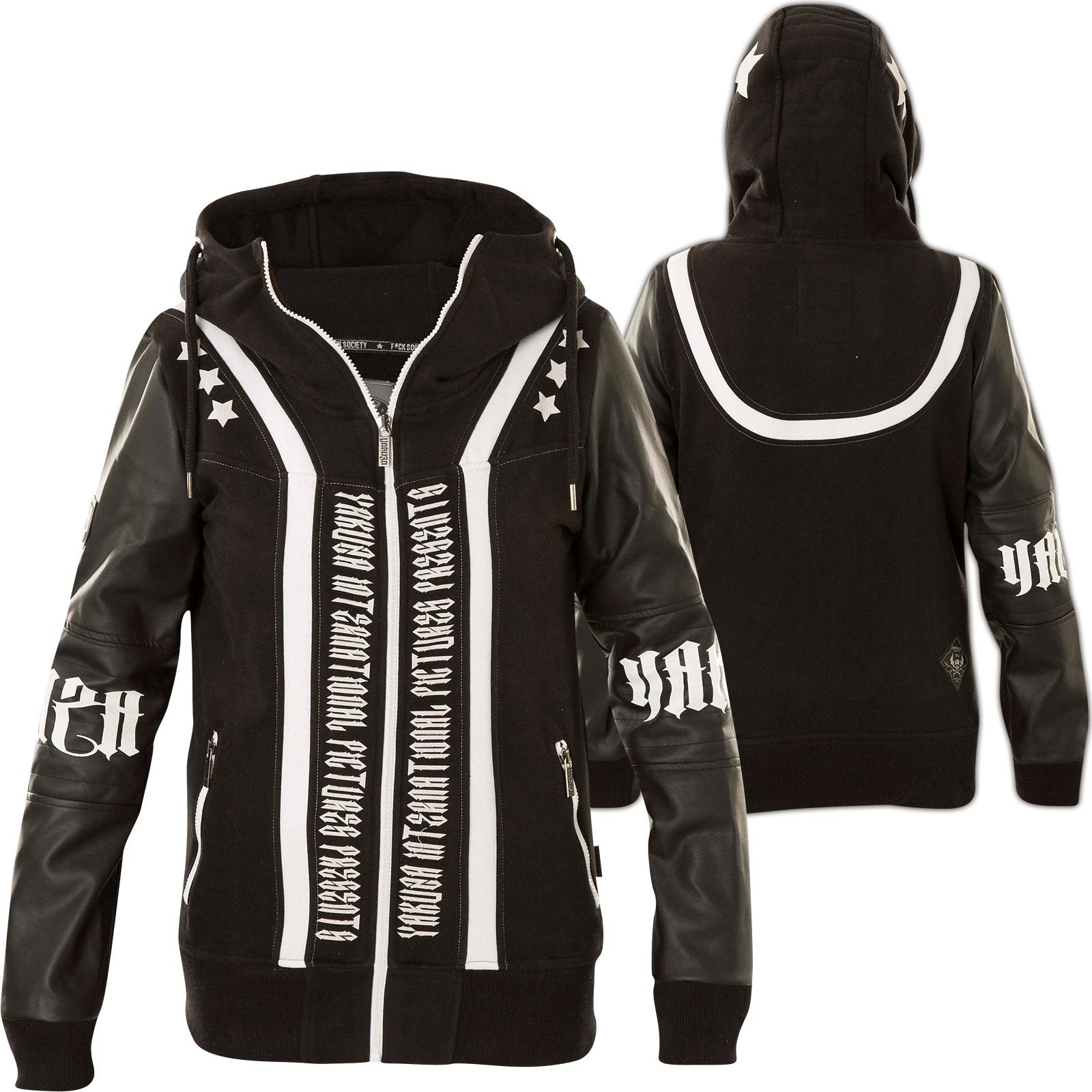 Yakuza Mix Daily Jacket 11110 Neck Hooded Hoody Black Woman Use Gjb High 0X8wOnPkN