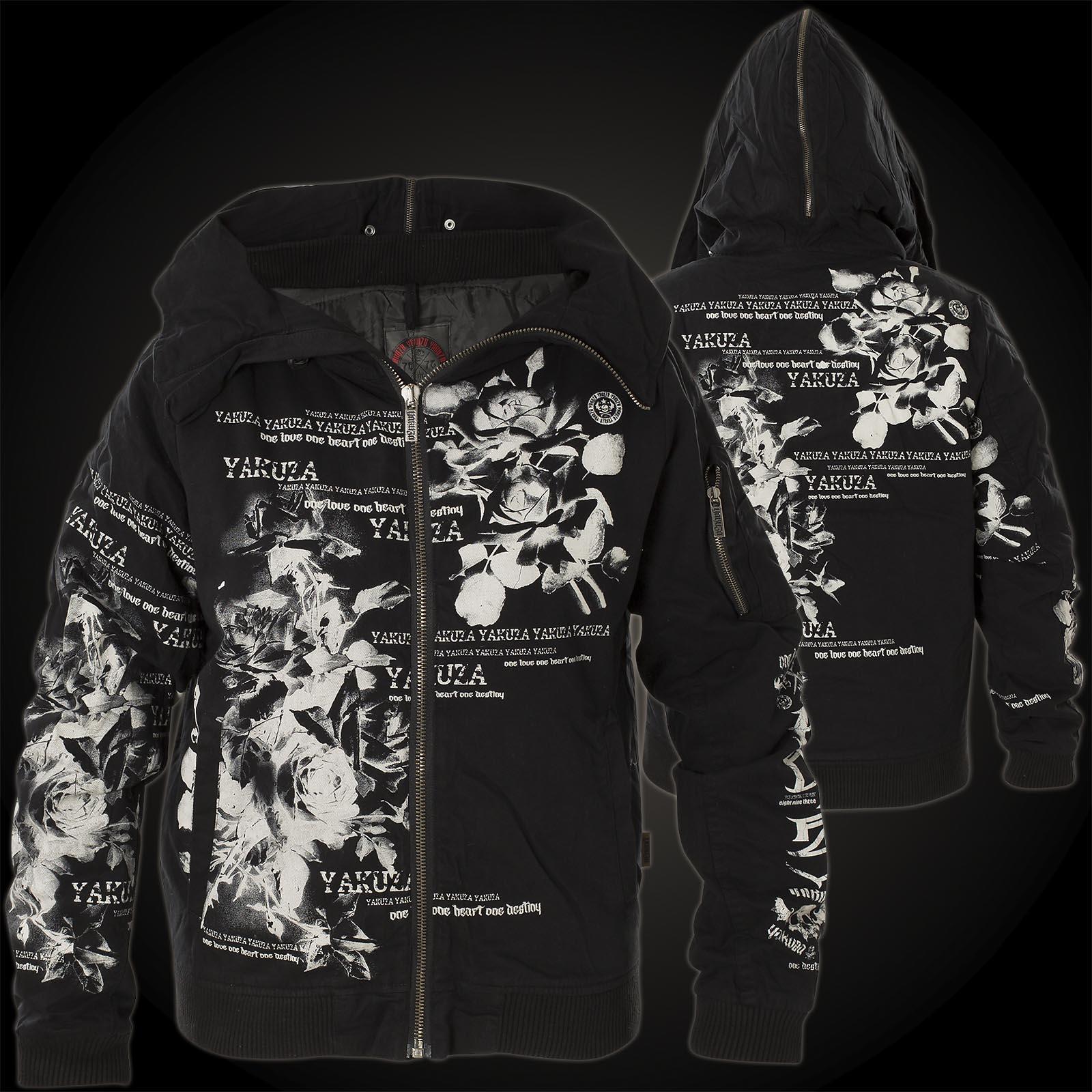 Yakuza Woman Jacket Flower Heavy Jacket Bomber GJB 10133 Black