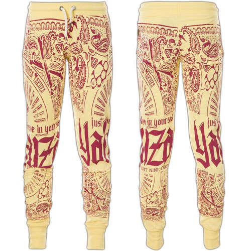 Yakuza Woman Sweatpants Believe Skinny Jogger GJOB 10135 Pale Banana
