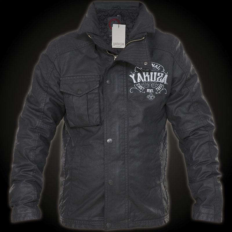 Yakuza JB-7046 Biker-style Jacket With Logo Embroidering