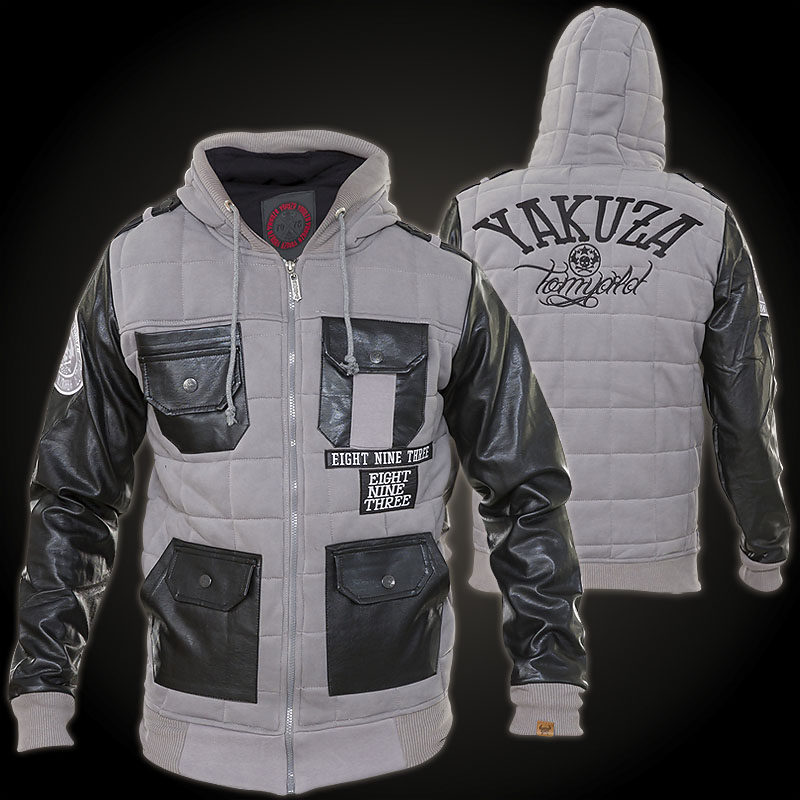 Yakuza Quilted JB-7032 Quilted-style jacket with embroidered lettering e562018189